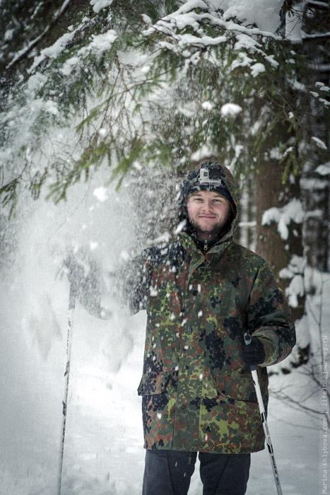 Снег с елки