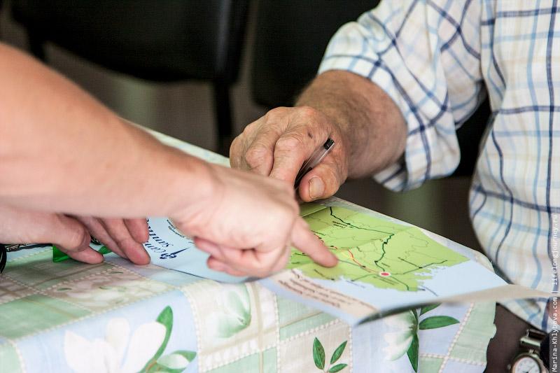 Хосе Мария объясняет маршрут