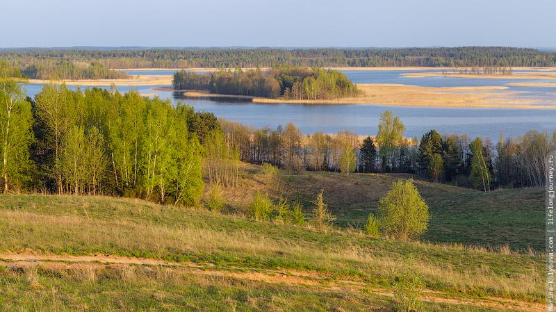 Вид на Браславские озера с горы Маяк