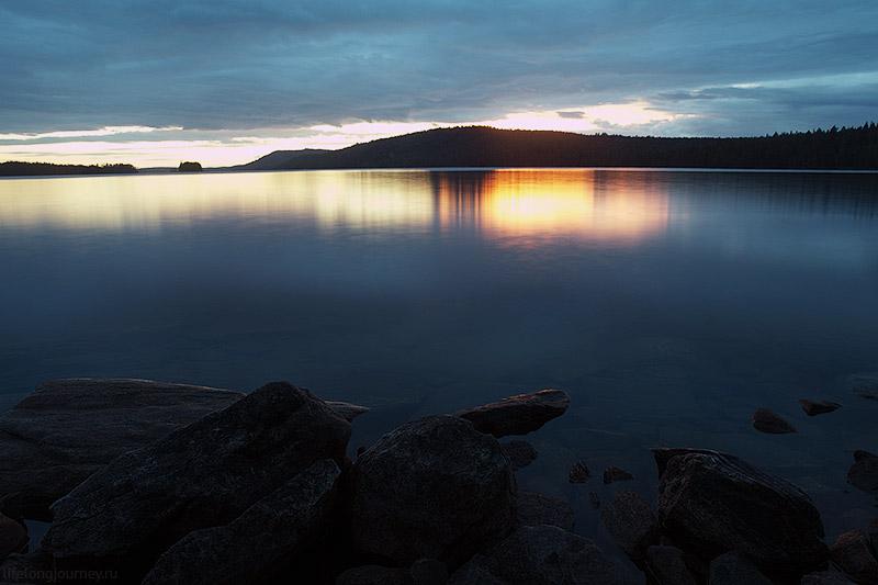 Длинный вечер на рзере.
