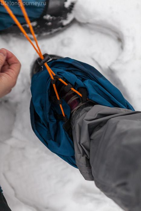 Завязка-шнурок в бахилах