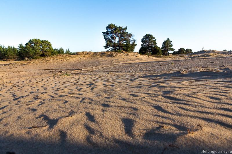 Пески Кузомени - песок на закате