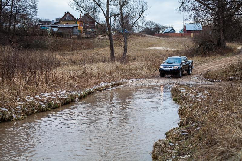 Ручей в деревне Каменищи