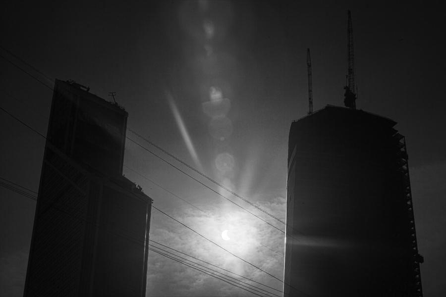 Солнечное затмение в Москве